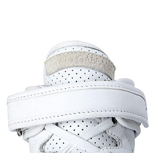 Dolce & Gabbana Scarpe Da Ginnastica Bianche In Pelle Bianca Alta Moda Uomo Bianche