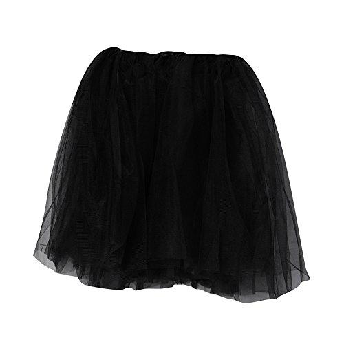 [Big Girl, Teens, Adult Ballet Princess Fairy Dress-Up Tutu (Young at Heart)- BLACK] (Dance Dress Costumes Studio)