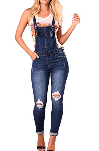 Nove Casual Punti Rotto Monopezzi Donne Matita Pantaloni Blu Moda Jumpsuits Navy Overalls Rompers Cinghia Sottile Onlyoustyle Buco Denim Salopette Jeans q8wt6g8O