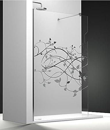 Mampara de ducha fija One cristal Securit transparente de 8 mm antical impresión imagik con puerta toalla: Amazon.es: Bricolaje y herramientas