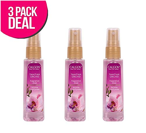 (3 PACK) CALGON Fragrance Body Mist 2oz, Tahitian Orchid