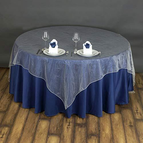 Mikash 72x72 Sheer Organza Overlay Wedding Party Banquet Decoration 20+ Colors! | Model WDDNGDCRTN - 19900 |