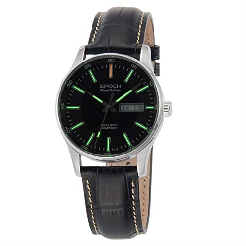 EPOCH 6021G Dress T25 Tritium Luminous Vogue Waterproof Business Mens Quartz Watch (P8)