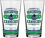 NHL Vancouver Canucks Property of Mixing Glass, 2-Pack
