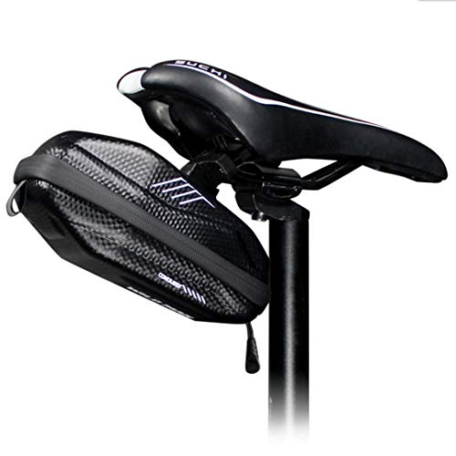 WILD MAN 0.8L Waterproof Fast Release EVA Hard Shell Bike Saddle Bag Under Seat For Mountain Road MTB Bicycle Cycling