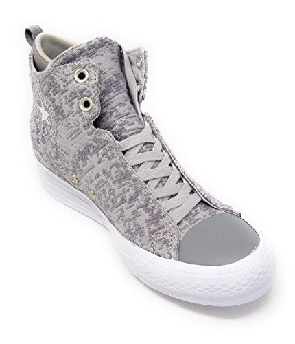 Converse Ctas Chuck Taylor All Star Selene Winter Knit Mid Grey Womens 6.5