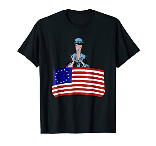 (Betsy Ross Flag T-Shirt USA United States of)