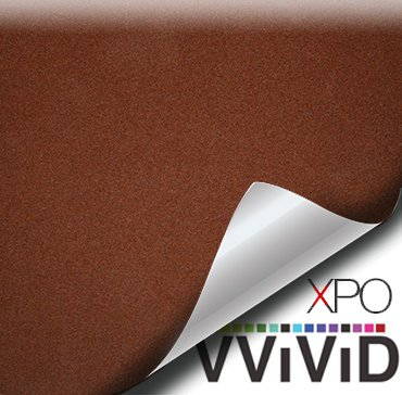 Leather Suede Wrap - VViViD Brown leather suede vinyl car furniture wrap 2ft x 4.60ft (53