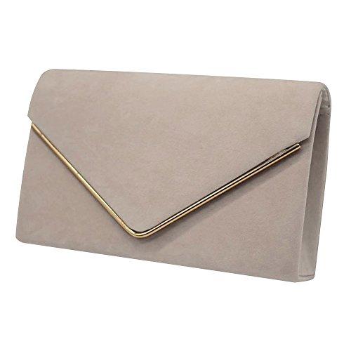 Clutch Brand 1 Ladies Bag Pleated Luxury New Womens Handbag Suede Party Evening velvet Wocharm Khaki Bridal Prom 8d1aTqwx1