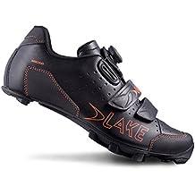 Lake Cycling 2016 Men's MX228 Mountain Cycling Shoes - Black/Orange