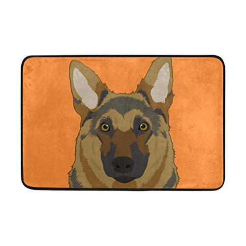 Alsatian Girl (My Daily Alsatian Dog Doormat 15.7 x 23.6 inch, Living Room Bedroom Kitchen Bathroom Decorative Lightweight Foam Printed Rug)
