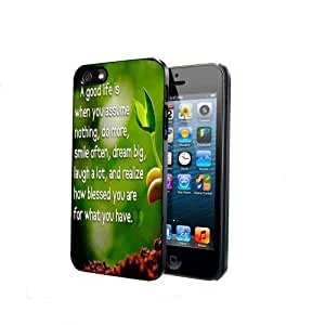 Good Life Quote Plant iPhone 5 Back Case