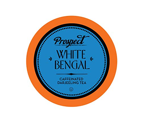 Prospect Tea White Bengal Single-Cup Tea for Keurig K-Cup Brewers, 40 Count