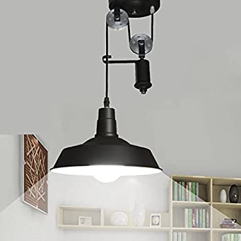 Ohr lighting edison hanging vintage barn pendant 1 light fixture jinguo lighting bright adjustable pulley light fixture pendant lights hanging lamp chandelier with metal shade in mozeypictures Images