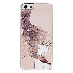 Long-Haired Beauty Pattern Hard Case for iPhone 5/5S