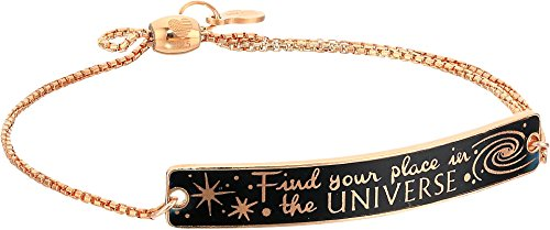 le in Time' 14k Rose Gold Plated Find Your Place in the Universe Pull Chain Bracelet ()