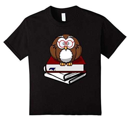 unisex-child Book Nerd Shirt Owl Reading Student Geek Funny TShirt 8 Black (Nerdy Girl Costume Ideas)