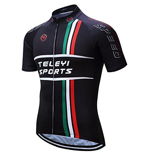 QXF Trägerhose Männer Radtrikot Voll Reißverschluss Breathable Short Sleeves Shorts Radfahren Sommer Top Wear Suit