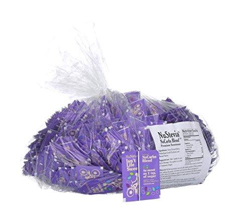 NuNaturals NoCarb Blend Powder All Purpose Natural Sweetener, Sugar-Free, Zero Calorie, (1,000 Packets) by NuNaturals (Image #1)