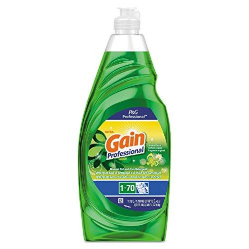 Gain Professional Manual Pot and Pan Dish Detergent, Gain Original, 38 oz Bottle