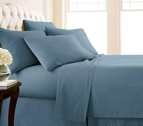 Southshore Fine Living, Inc. Vilano Springs - Premium Collection 6-Piece, 21 Inch Extra-Deep Pocket Sheet Sets, Coronet Blue, Queen