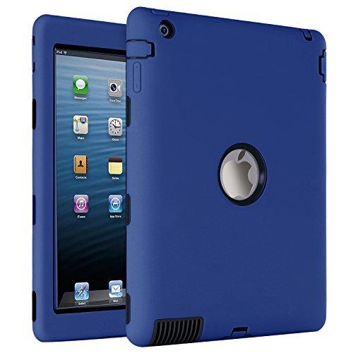 Shockproof Heavy Duty Armor Case for Apple iPad Air 2 (Black) - 8