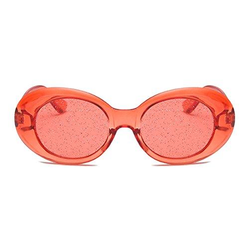 Lens sol Caja Eyewear Frame Thick de Gafas Transparente Tinted Roja Oval Retro Yefree Vintage Glasses 1FRPqExw