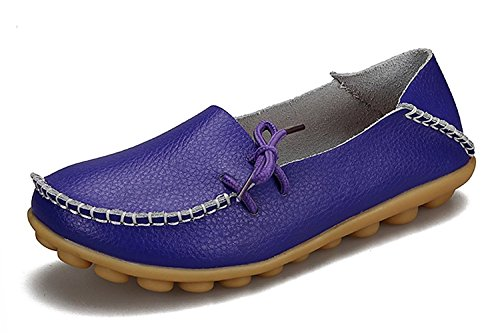 (VenusCelia Women's Comfort Walking Office Flat Loafer(9 M US,Purple))