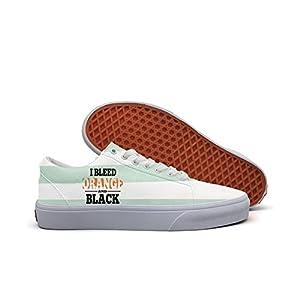 Bleed Orange Black Men's Sports Canvas Running Shoe Sports Running Sneakers