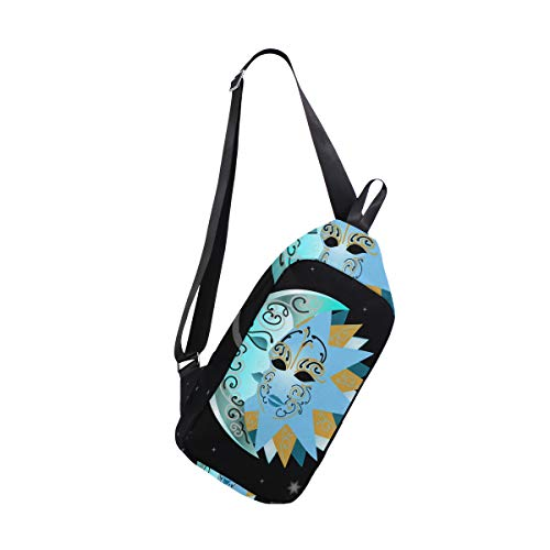 For Bags Men amp; Chest Bennigiry And Sling Backpack Star Bag Women One Moon Crossbody Sun Shoulder wqg7qTU