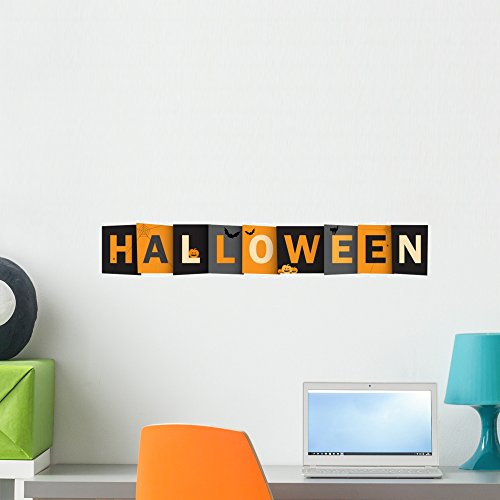 Halloween Vector Letters Icon Wall Mural by Wallmonkeys Peel and Stick Graphic (24 in W x 6 in H) WM363120