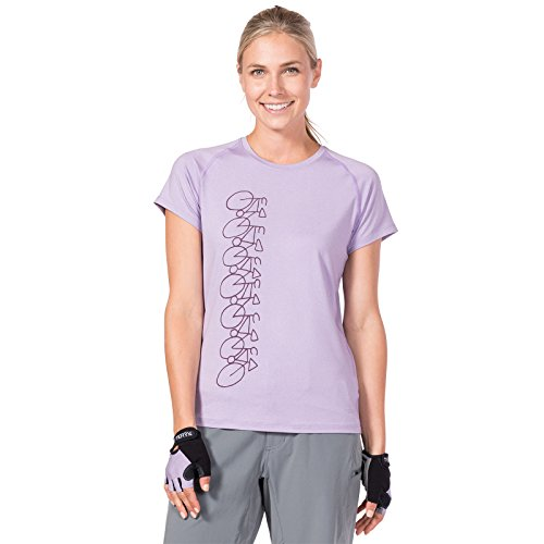 Bicycle Womens T-shirt - Terry Tech Tee Short Sleeve Cycling Jersey - Women's Antimicrobial Odor Free Quick Dry Breathable Workout Bike T-shirt