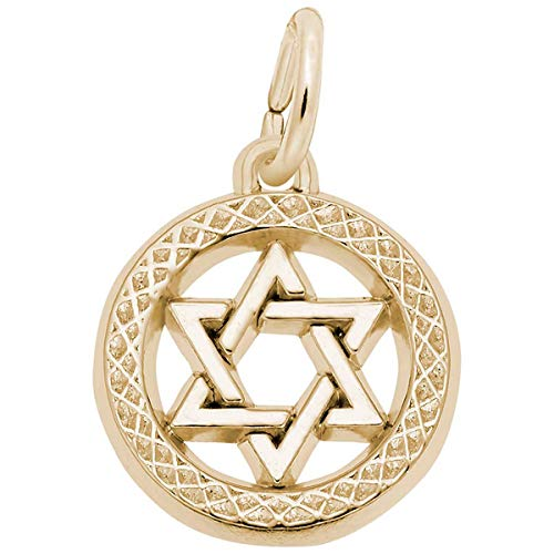 Symbol Charm Gold Plated - Rembrandt Charms Star of David Charm, Gold Plated Silver