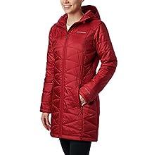 Columbia Women's Standard Mighty Lite Hooded Jacket, Beet, Medium