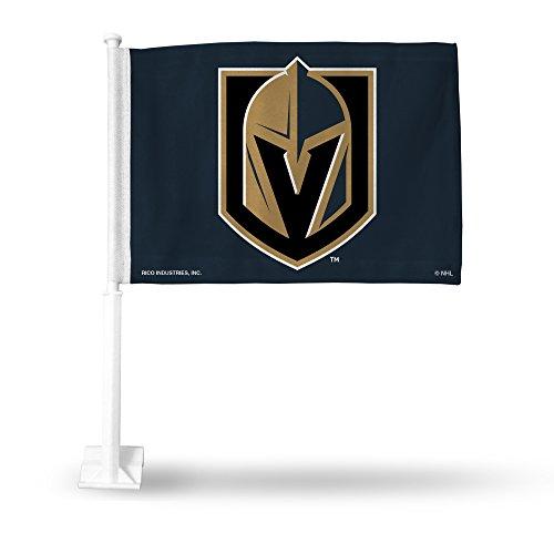 NHL Las Vegas Golden Knights Car Flag, Black, with White Pole