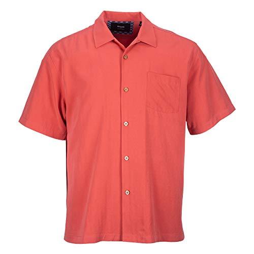 Havana Silk (Blank&Black Men's Woven Short-Sleeved Shirt, Tangerine XL)