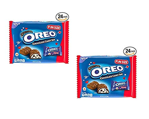 Valentines Candy Bar (Oreo Chocolate Candy Bar Valentine's Day Treat Size Bars - 24 Count (2 Pack (48 Count)))