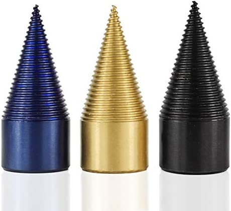 CMCP HSS Firewood Splitter Drill Bit Round//Hex//Square Shank Core Drill Bit For Wood Splitting Tools Black 32mm Round