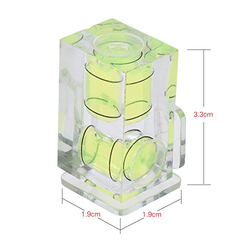 2 Axis Dimension Double Camera Spirit Bubble Level Balance Shot Hot Mount for Canon Nikon Panosonic Olympus Sony MI (Double Spirit Level)