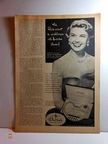 Lullaby Accents (Advertisement: Doris Day (Lullaby of Broadway) for Deltah Simulated Pearls