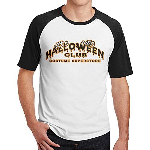 Men's Halloween Club Baseball T Shirts Cute Raglan 3/4 Sleeves Tee]()