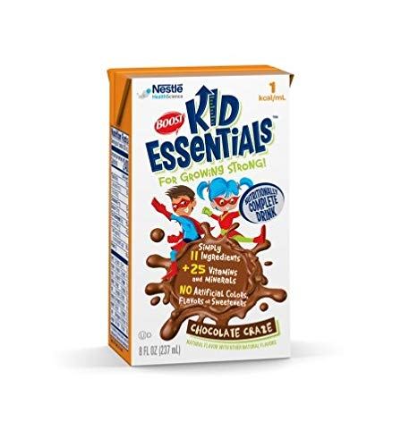 Boost Kid Essentials 1 Cal, Chocolate Craze, 8 Ounce, by Nestle – Case of 27
