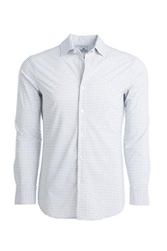 - Mizzen + Main Leeward Trim Fit Mens Button Down Shirt | Non-Iron, Machine Washable, Sweat Wicking | Kennedy White Window Pane