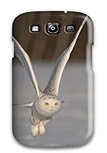 Fashionable LXWnOBT7288bSnOR Galaxy S3 Case Cover For Snowy Owl In Flight - Author Unknown Protective Case