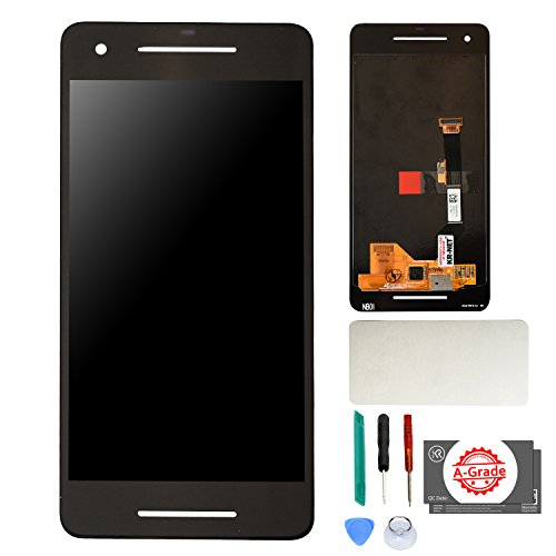 (KR-NET AMOLED LCD Display Touch Screen Digitizer Assembly Replacement for Google Pixel 2, with Adhesive and Tools )