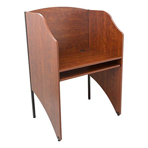 Norwood Commercial Furniture Single-Sided Study Carrel- Starter Unit- Cherry (Starter Single Sided)