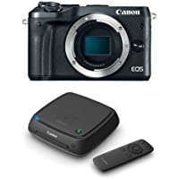 Canon EOS M6 24MP Mirrorless Digital Camera (Body Only), Full HD Video, Black - With Canon Connect Station CS100