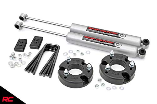 Rough Country 52230 Leveling Kit 2' fits 2009-2019 F150 Includes N3 Shocks Suspension System