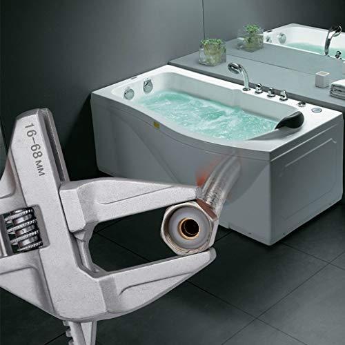 Baoyouls ユニバーサルスパナアルミ合金大型オープンエンド調節可能なレンチ修理ツール用水道管ネジ浴室エアコン