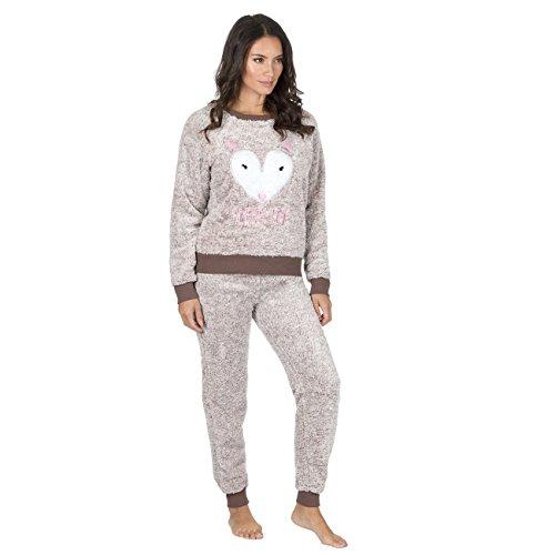 Brown sempre Snuggle Set Soft Fox Pajama Fleece Twosie Dreaming Per 7O1wH8O